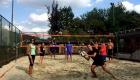 il campo da beach volley si presta perfettamente per divertenti allenamenti di gruppo