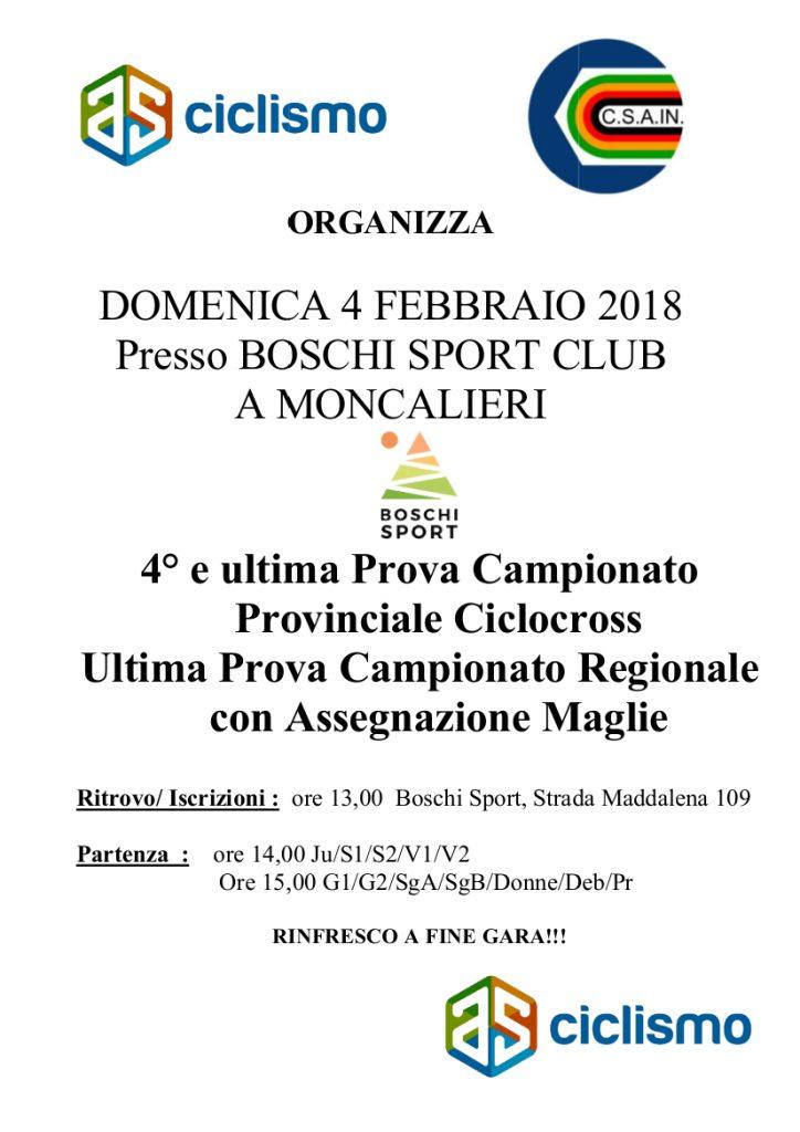 Gara di ciclocross, finale campionato provinciale e regionale presso il boschi sport club, Moncalieri