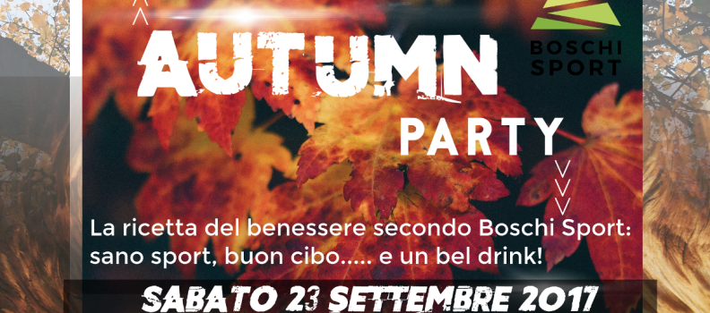 Autumn party – Cibo, sport e divertimento.