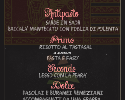 Cena a tema: Veneto. 26 gennaio.